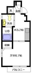 HANOVER NAKANO2階Fの間取り画像