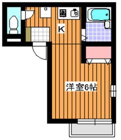 地下鉄成増駅 徒歩15分2階Fの間取り画像