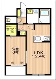 プレミアム武蔵浦和 ペット共生2階Fの間取り画像
