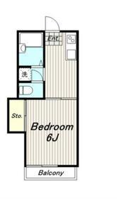 ドリームハイツ2階Fの間取り画像