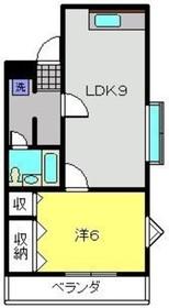 クリエール三ッ沢公園2階Fの間取り画像