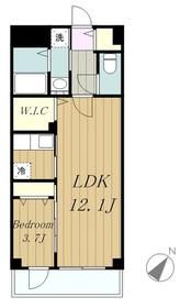 グリンデルヴァルト7階Fの間取り画像
