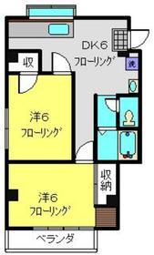 赤門第参葉月ビル2階Fの間取り画像