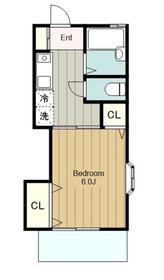 湘南ハイツ2階Fの間取り画像
