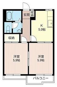 ラトナヴァーサII2階Fの間取り画像