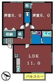 グランディール1階Fの間取り画像