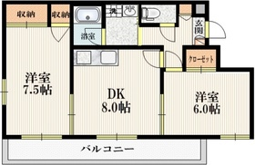 オギエステート3階Fの間取り画像