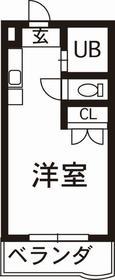 ユニテック東野2階Fの間取り画像