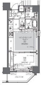 ZOOM日本橋馬喰町6階Fの間取り画像