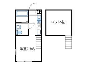 ヴィラナタル2階Fの間取り画像