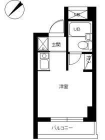 シティマンションオリエント伊勢佐木町3階Fの間取り画像
