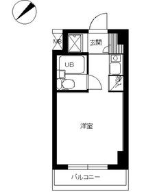 シティマンションオリエント伊勢佐木町6階Fの間取り画像