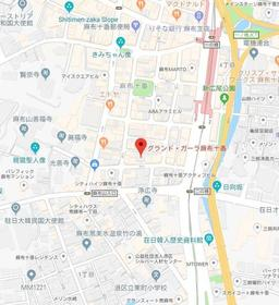 麻布十番駅 徒歩3分案内図
