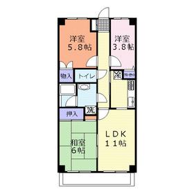 DUO FUJIMINO(デュオフジミノ)1階Fの間取り画像