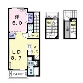 エクセレント グローブ3階Fの間取り画像