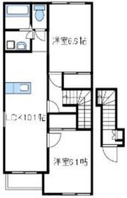 パラディ2階Fの間取り画像