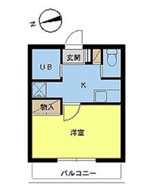 スカイコートヴァンテアン早稲田4階Fの間取り画像