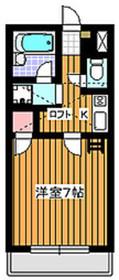 下赤塚駅 徒歩2分1階Fの間取り画像