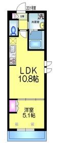 仮称)坪井東1丁目メゾン2階Fの間取り画像