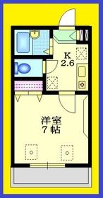 フォンターナ1階Fの間取り画像