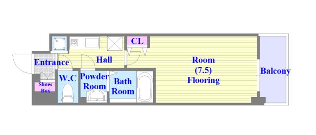 Luxe今里Ⅱ シンプルな住み心地を実感できる素敵な間取りになってます。