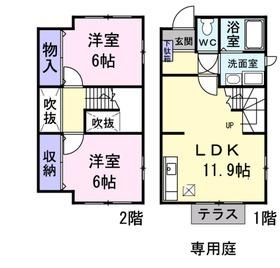 モンラルジュ5番館1階Fの間取り画像