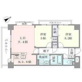 Apartment・H5004階Fの間取り画像