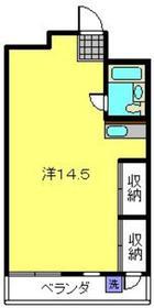 不二ビル3階Fの間取り画像