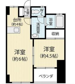 第一暘ビル4階Fの間取り画像