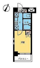 スカイコート日本橋人形町第35階Fの間取り画像