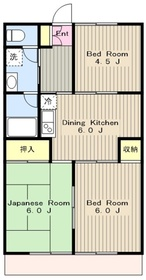 湘南台駅 徒歩6分2階Fの間取り画像