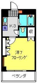 新川崎駅 徒歩19分4階Fの間取り画像