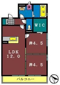 サンガーデン(前原西)1階Fの間取り画像