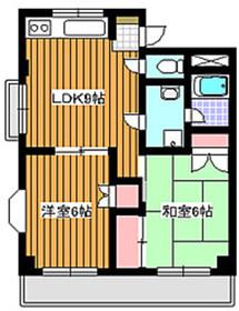 地下鉄赤塚駅 徒歩17分3階Fの間取り画像