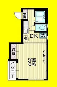 ドエル三鷹2階Fの間取り画像