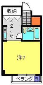 武蔵新城駅 徒歩10分4階Fの間取り画像