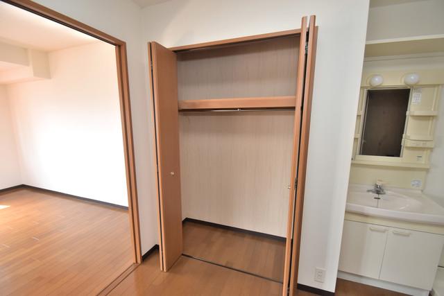 サンオークスマンション もちろん収納スペースも確保。おかげでお部屋の中がスッキリ。