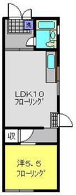 川井荘1階Fの間取り画像