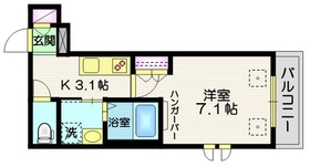 Blue daisy 目白2階Fの間取り画像
