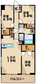 プレシス多摩永山レヴィエ5階Fの間取り画像