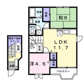 海老名駅 車23分9.5キロ2階Fの間取り画像