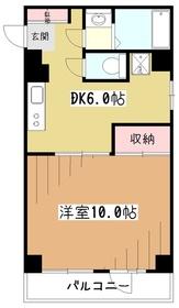 ハイツ昭栄4階Fの間取り画像