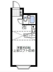 ベルピア弘明寺Ⅱ1階Fの間取り画像