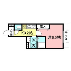 (仮称)神宮前メゾン1階Fの間取り画像