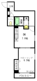 プレジール3階Fの間取り画像
