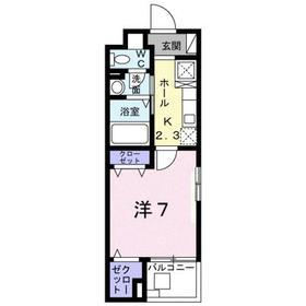 白子リバーハイツ3階Fの間取り画像