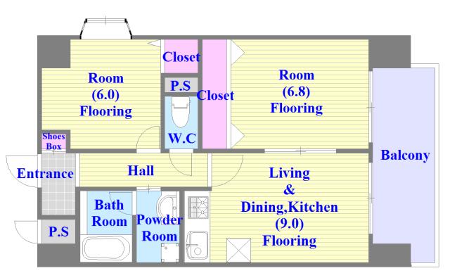 ラ・フォーレ久宝園 人気の全室フローリング。収納スペースも充実しています。