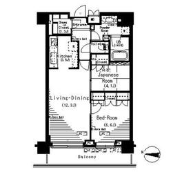 パークアクシス辰巳ステージ9階Fの間取り画像