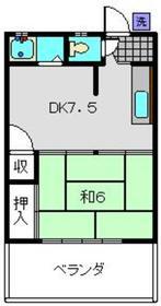 武蔵小杉駅 バス9分「上宮内」徒歩1分2階Fの間取り画像