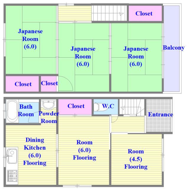 横沼町3-4-13貸家 とにかく収納が多く、ファミリーさんに使いやすい間取りです。